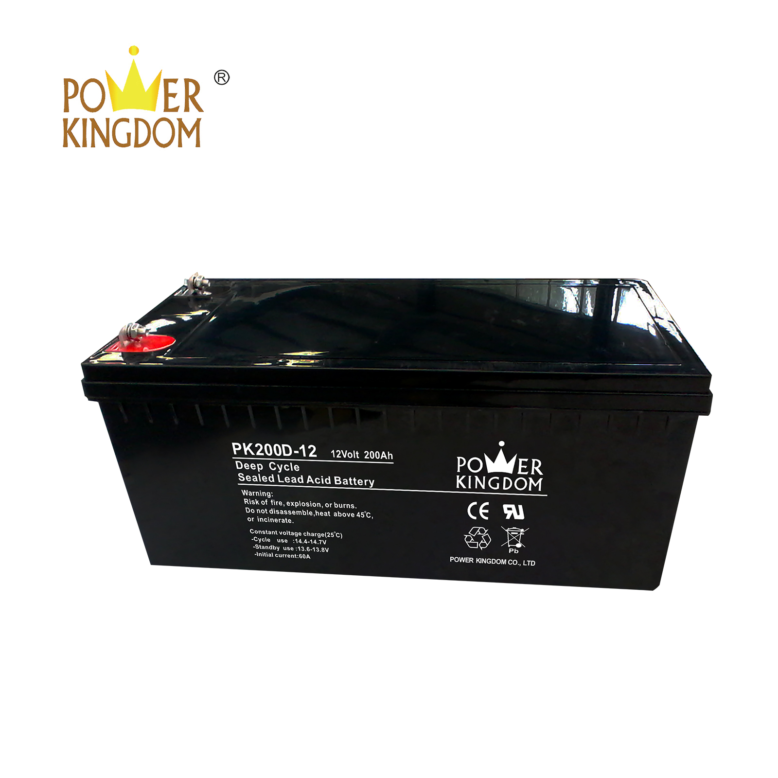 Power Kingdom Heat sealed design agm gel battery factory price vehile and power storage system