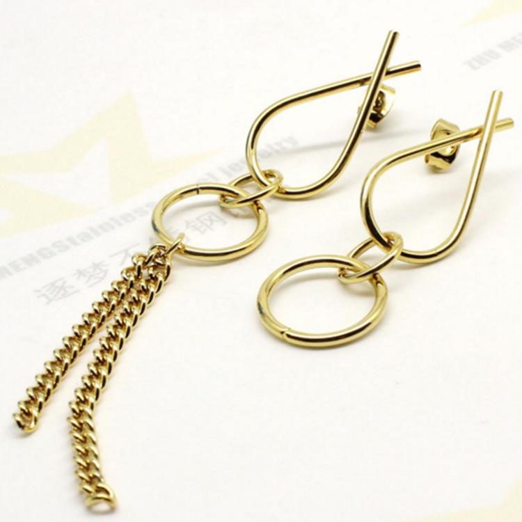 Elegant Long Chain Jhumka Earring Women S Dubai Gold Jewelry