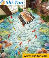 Vivid 3d sea world colorful fish design porcelain tiles for living room