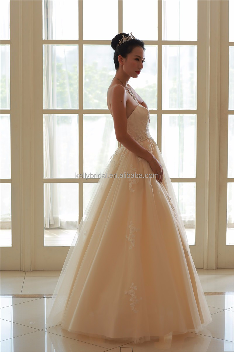 Peach Wedding Dress, Peach Wedding Dress Suppliers and Manufacturers ...