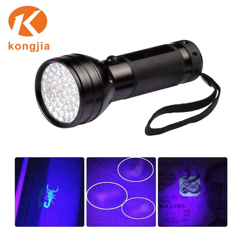51 LEDs 390nm Ultraviolet Flashlight for Hotel Room Inspection Urine Detection
