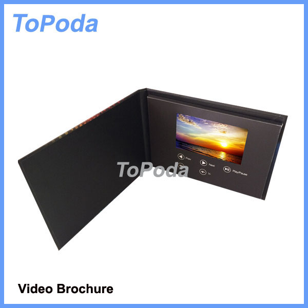 New products novelty video brochure card