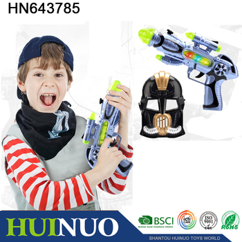 Battery operated kids toy gun with flash light and sound HN643785