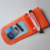 Top Quality orange PVC zipper waterproof bag for iPhone and iPod diving use