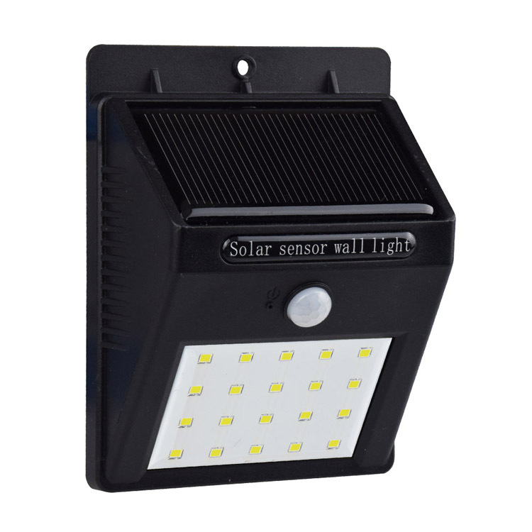 SL19 20led solar wall light Motion sensor Solar panel systems rechargeable battery wall light