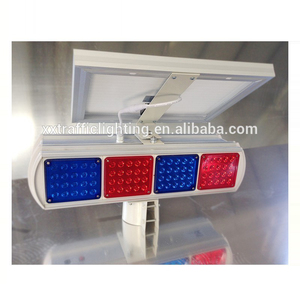 Road and street sign solar traffic road flares led strobe lights