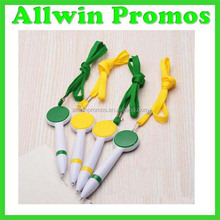 2016 Promostionl Printing Cord Pen/Sling Advertise ball Pen
