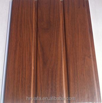 Teak Wood Color Pvc Plank Pvc Wall Panel Buy Teak Wood