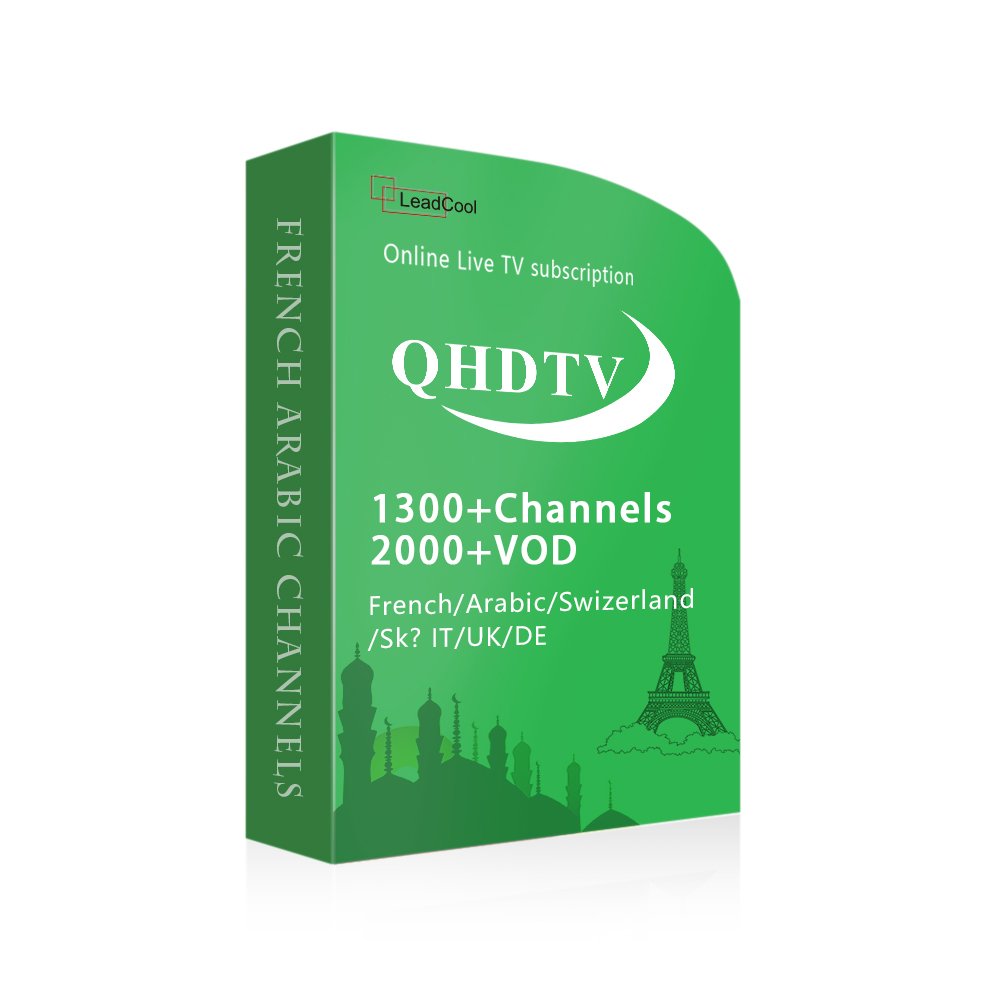 Qatar IPTV Box Indian TV Receiver 1300 Hot Channels 1 Year QHDTV Also for 2017 Best Smart TV Box