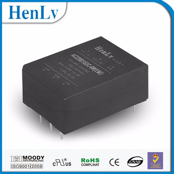 6W Compact Size Universal Sip Package AC-DC Power Module 85-265V AC-DC Converter 12V Picture With CE Rohs 2 Years Warranty