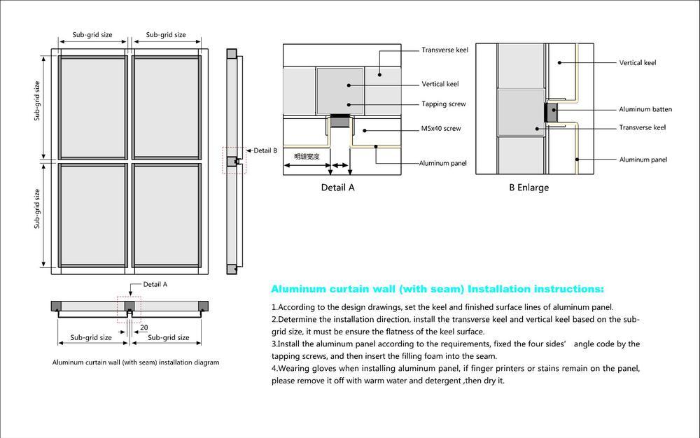 Aluminum Cladding Details : Best quality exterior aluminum panel composite