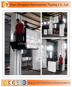 350KG wheelchair hydraulic used elevators for sale/ handicapped vertical wheelchair lift/chairs for the disabled