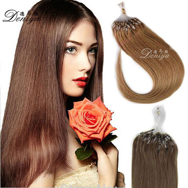 China Gold Supplier Micro Ring Loop 18 Inches Straight Indian Remy Hair Extensions