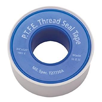 "Gasoila Virgin PTFE Low Density Thread Seal Tape, 260"" Length, 1/2"" Width"
