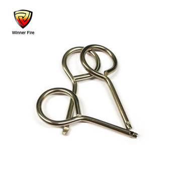 Fire extinguisher safety pin in fire equipment