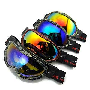 4f815a0d8a2b Get Quotations · (Random Color) Electroplating Anti Fog Ski Goggles Fitted  With Glasses Windproof Waterproof Climbing Goggles