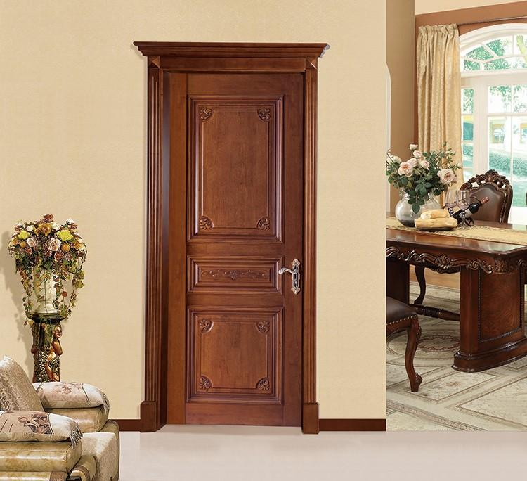 Solid exterior flat teak wood front door design buy teak for Front door design for flats