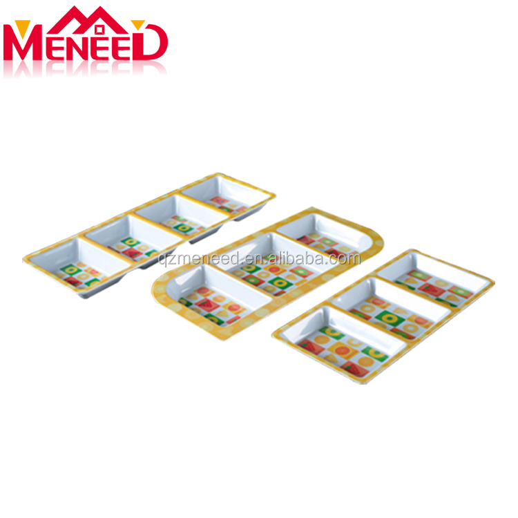 Custom design full print homeware melamine dinner set