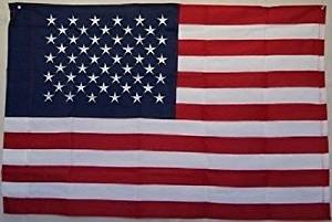 2.5x4 2.5'x4' ft 100% Sewn Embroidered USA American flag banner bunting sleeve