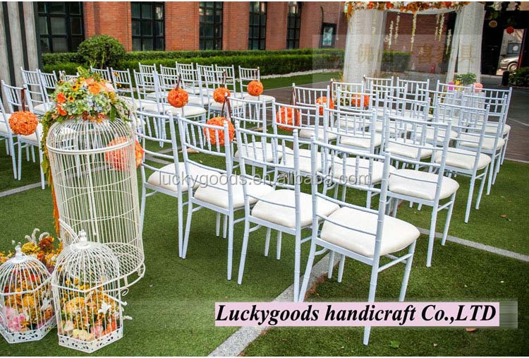 wholesale wedding and event reception metal chiavari chair