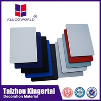 Alucoworld 4mm recycled plastic interior&exterior wall decoration ACP composite panel definition