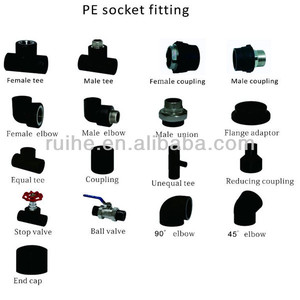 pe pipe fittings hdpe SDR11 PE 100 tapping saddle