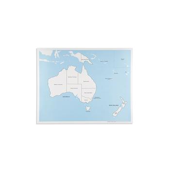 Australia Map Labeled.Montessori Map Kids Toys Educational Australia Control Map Labeled