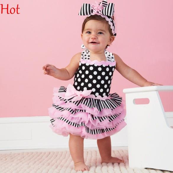 2016 Summer Girls Dress Cute Babies princess dress Pink ...