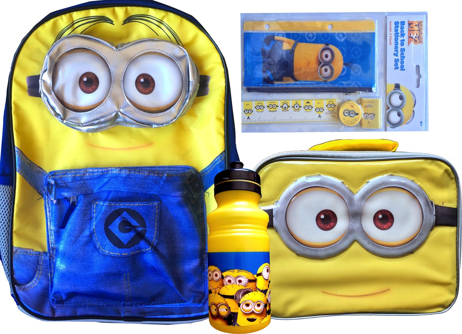 2c4b5ece1f40 Buy Minions Backpack with Minions Novelty Lunch Box with Minions ...