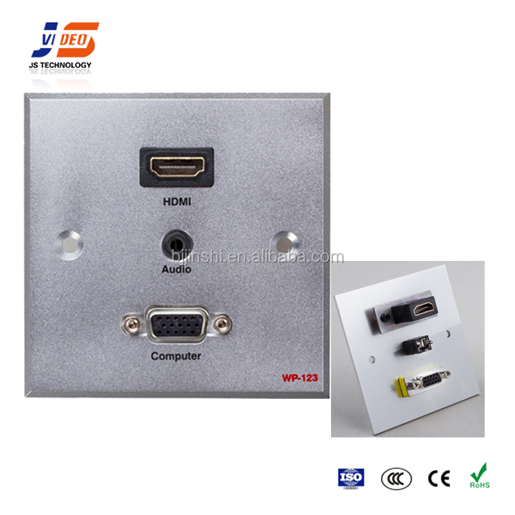 JS-WP123 office power 3.5mm Audio hdmi function of socket outlet socket