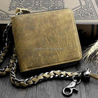Fashion Leather Printing Biker Wallet With Chain for men, High Quality Biker Wallet