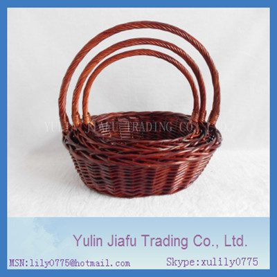 2014 CAC Fair hot sale handmade wicker kit of 3 basket