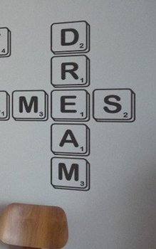 Scrabble Words Wall Decal