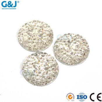 Wholesale 18MM Crystal Round Shape DIY Hand Crafts Resin Stone