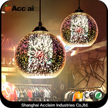 Vintage industrial loft designer led firework lights 3d glass pendant lighting