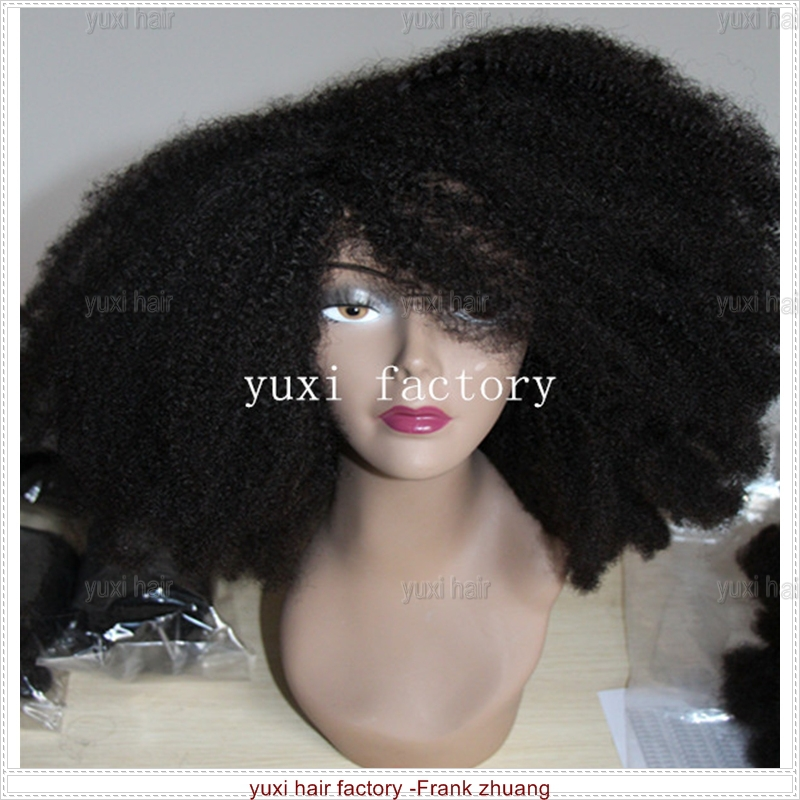 factory price unique quality afro kinky human hair wig