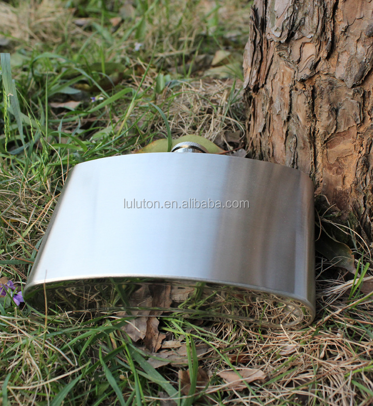 stainless steel flask of liquor metal material fashion with leather wrapping like handbag