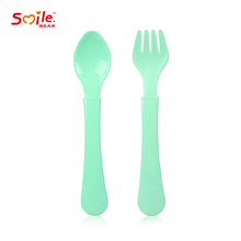 Wholesale New Arrival Simple PP Baby Fork and Spoon Set Baby Tablewar
