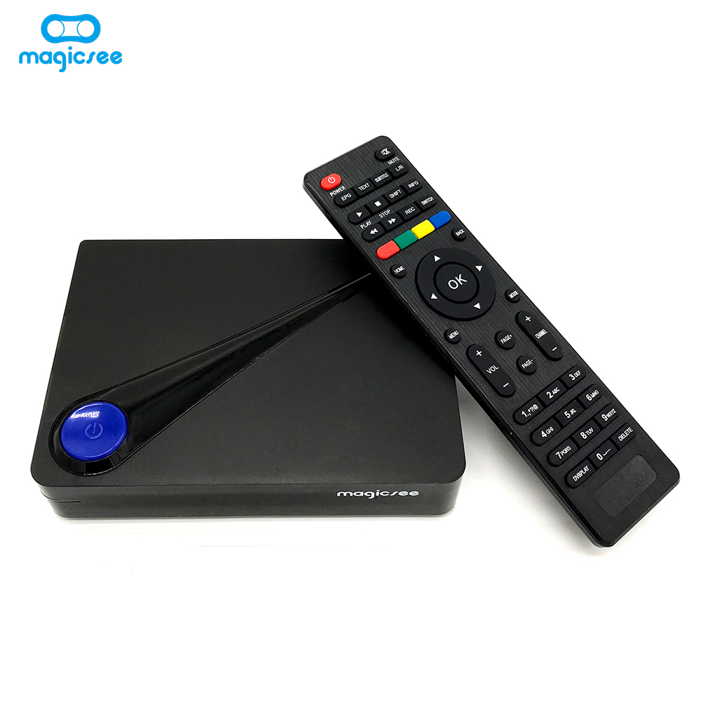 OEM/ODM google android dvb t t2 o dvb s2 tv caja amlogic s905D android 7,1 con dual core digital hd set top box