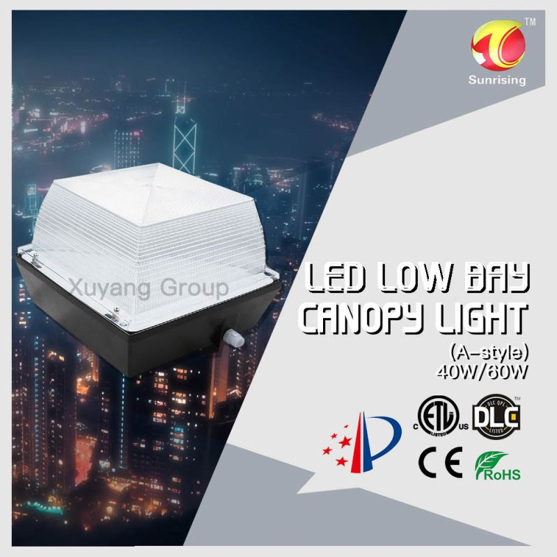 Sample ETL listed low profile vandalproof canopy light for undergroud lighting low bay