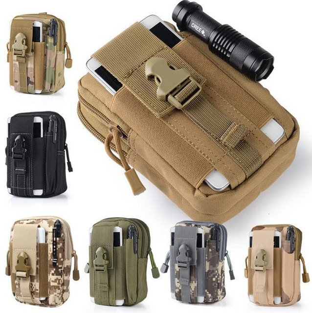 Hot selling New Outdoor Camping Hunting Bags Tactical Molle Pouch Phone/ Nylon Buckle Waist Military Climbing Survival