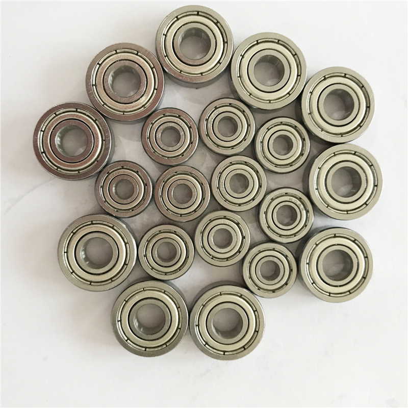 BAIJIAXIUSHANG Bearings MR106zz MR117zz MR105zz MR62zz MR126zz Deep Groove Ball Bearing 10Pcs ABEC-5 Miniature Metric Chrome Steel MR106z MR117z MR105z MR72z MR126z