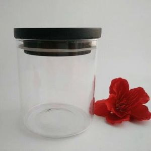 Wholesale glass candle containers with wooden lid paypal accepted
