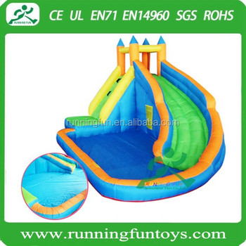 Mini Backyard Inflatable Water Park Pool With Slide For Kids
