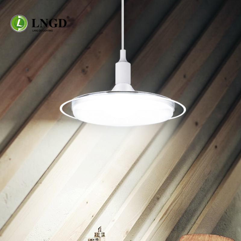Zhongshan led lighting lamp 2017 NEW white aluminum UFO led bulb light E27 explosion-proof lamp