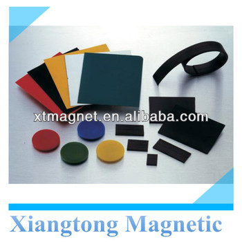 Rubber Self-adhesive Colored Magnetic Sheets/ Round Shape Rubber ...