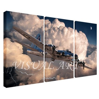 personalized plane printed split frame canvas prints art buy