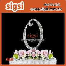 Most Fashionable Beautiful Letter O Rhinestone Cake Topper For Party