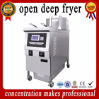 New Potato Chips machine Ventless Fryer Oil Filter Electric Deep Fryer with exhausting range hood