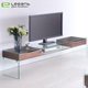Exquisite high quality living room laminate glass tv cabinet